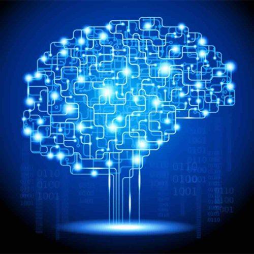 Artificial Intelligence brain graphic